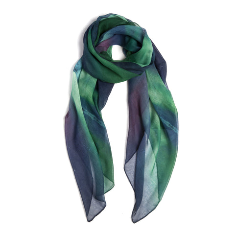 Scarf with the northern lights