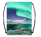 Drawstring bag - northern lights