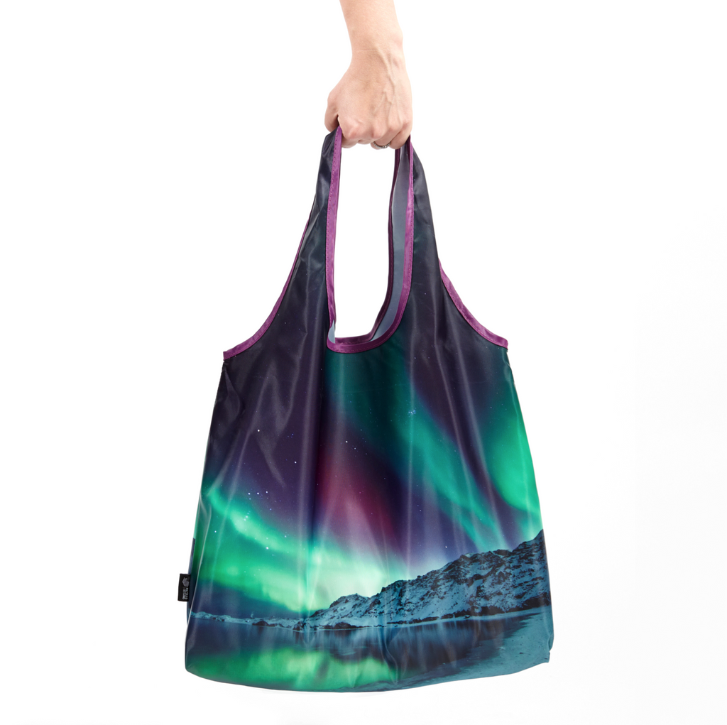 Northern lights reusable shopping bag