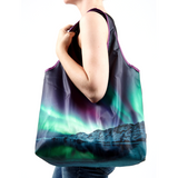 Iceland Northern lights reusable shopping bag