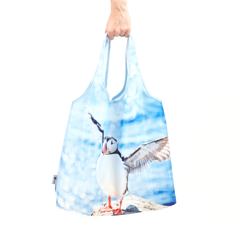 puffin reusable shopping bag