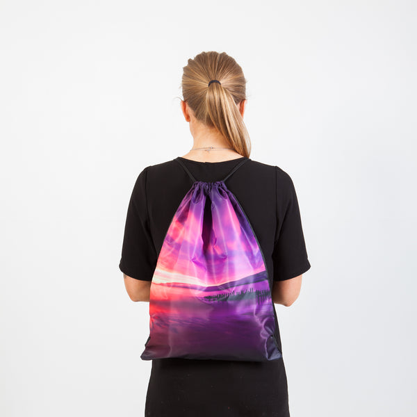Drawstring bag - Icelandic sunset