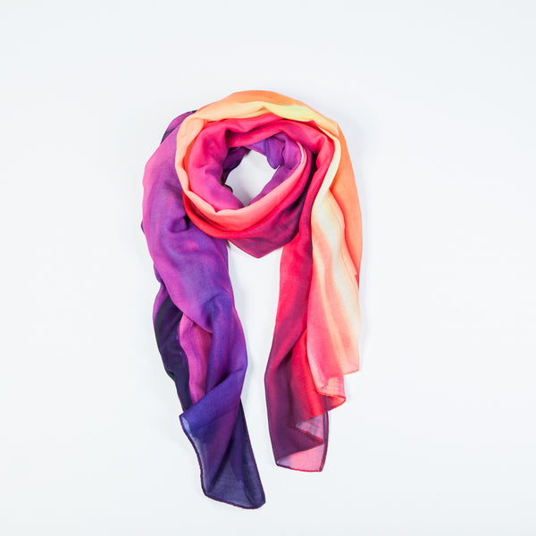 Scarf with Icelandic sunset