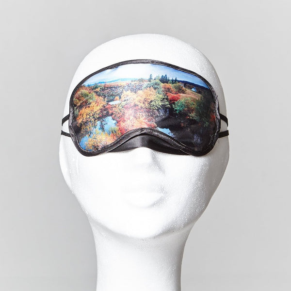 Sleeping mask with Thingvellir