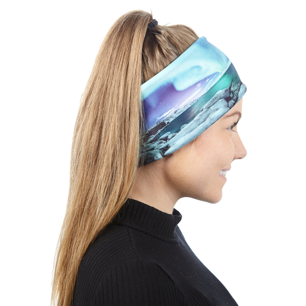 Turquoise Northern lights headband