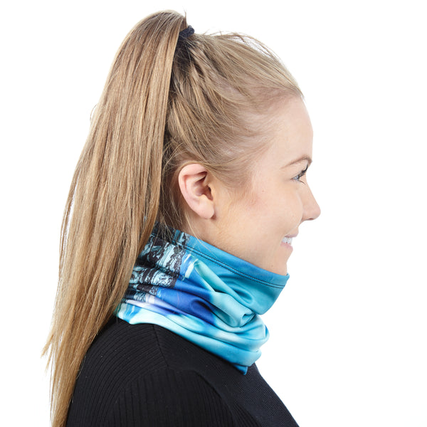 Turquoise northern lights luxury bandana