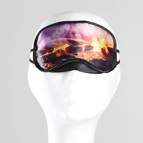 Sleeping mask with Eyjafjallajokull