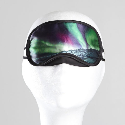 Sleeping mask with the northern lights