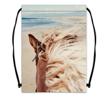 Drawstring bag - White beach