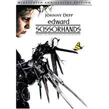 Edward Scissorhands - Johnny Depp (DVD) (Lightly scratched))