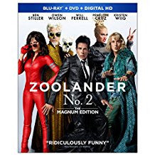 Zoolander No. 2 The Magnum Edition (Blu-ray + DVD +Digital) Blu-ray mint, DVD Lightly scracthed