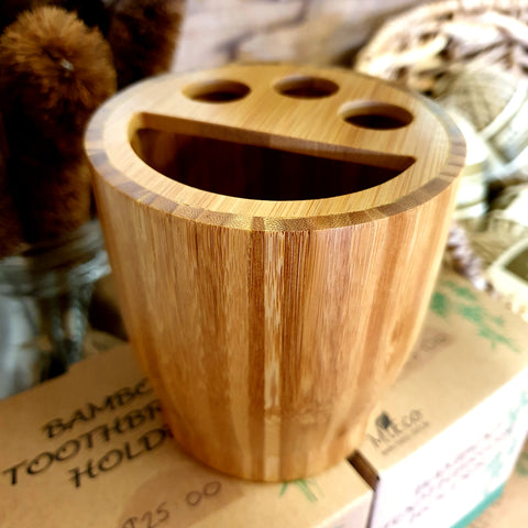 Bamboo Toothbrush Holder