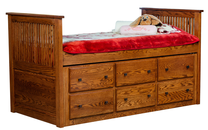 Captain's Bed with Twin Trundle (INT)