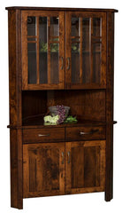 Solid Wood Amish Dining Room Hutches Plain and Simple Furniture