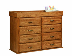 Reversible Changing Table/ 8 Drawer Dresser