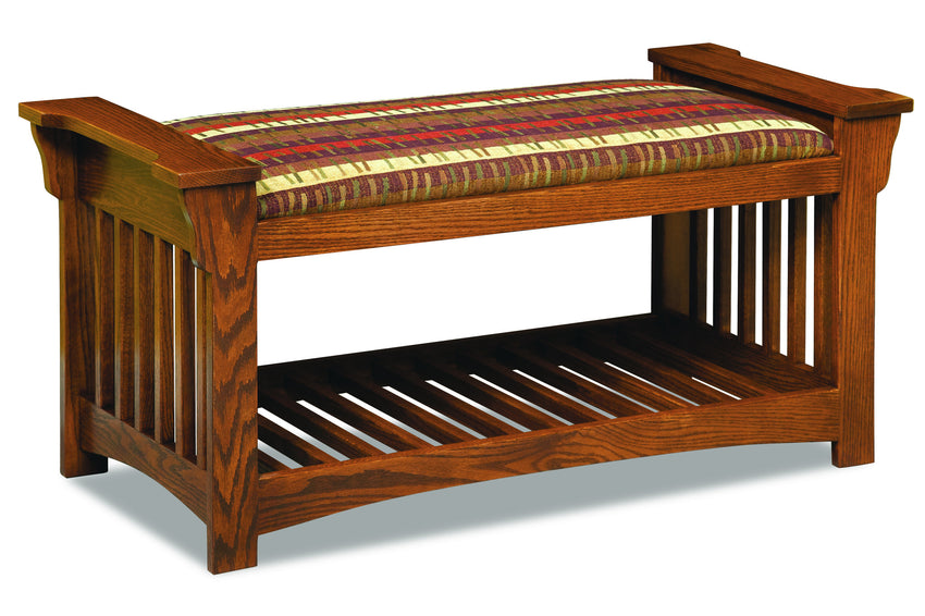 Mission Slat Bench