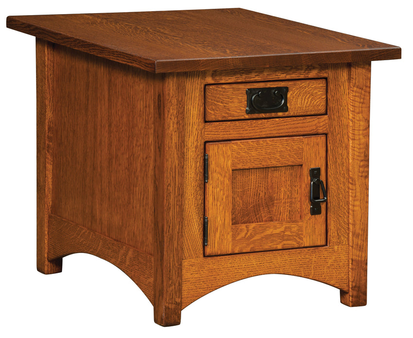 Arts & Crafts Cabinet End Table