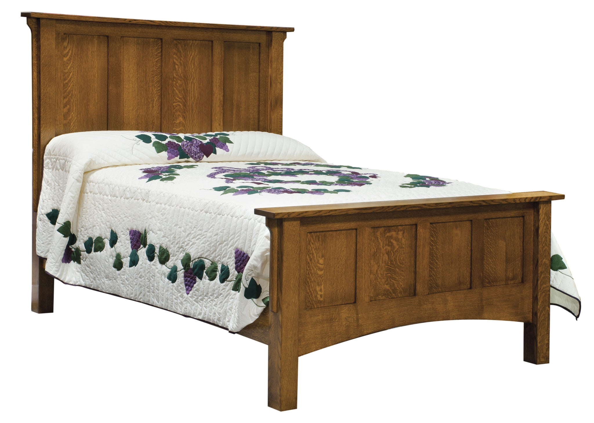 Arts & Crafts Panel Bed - Tall Headboard (ES) – Plain and Simple ...