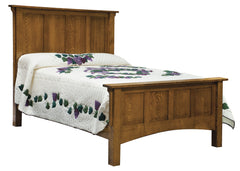 Arts & Crafts Panel Bed - Tall Headboard (ES)