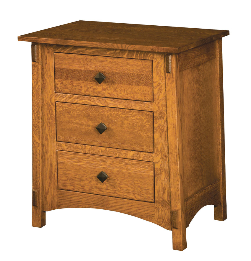 McCoy 3 Drawer Night Stand