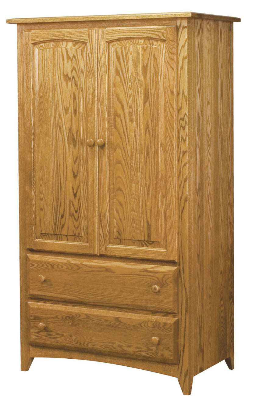 Shaker 2 Drawer 2 Door Armoire