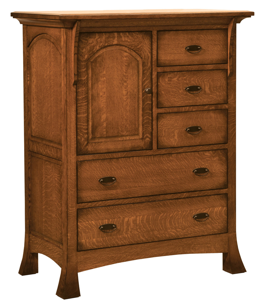 Breckenridge Door Chest, 5 Drawer, 1 Door