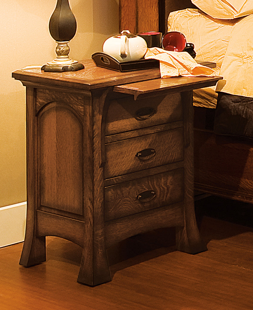 Breckenridge nightstand 3 drawer w pull out tray