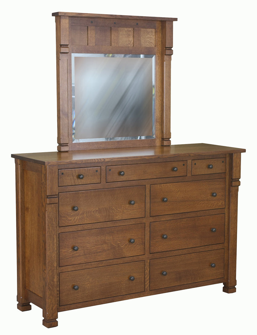 Brockport 9 Drawer Mule Dresser
