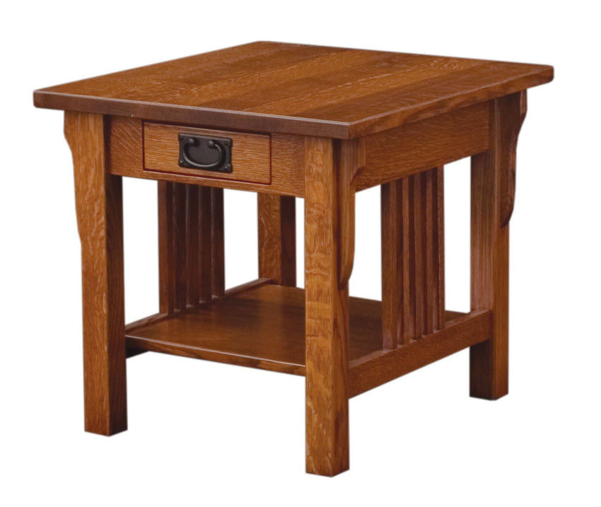 Camden Mission End Table Open