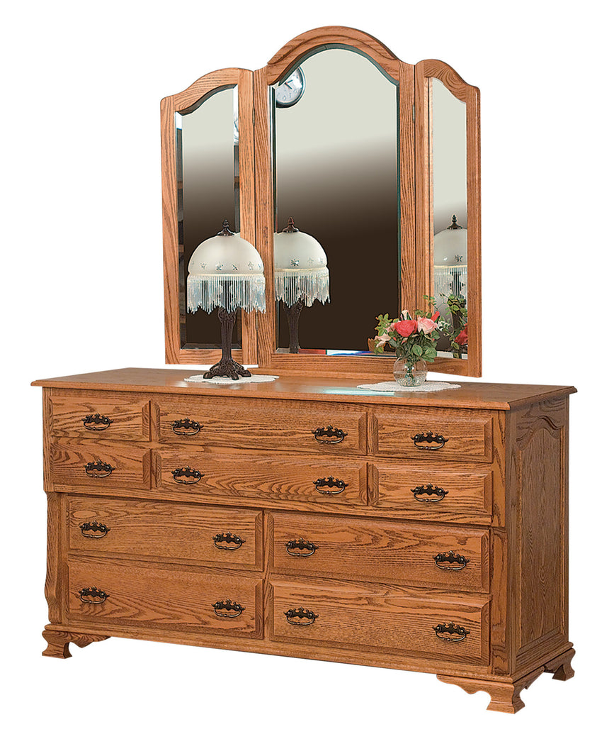 "Classic Heritage 66"" Dresser, 10 Drawers"