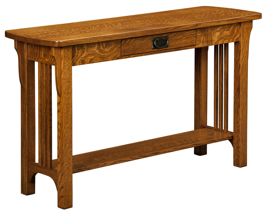 Craftsman Mission Sofa Table Open