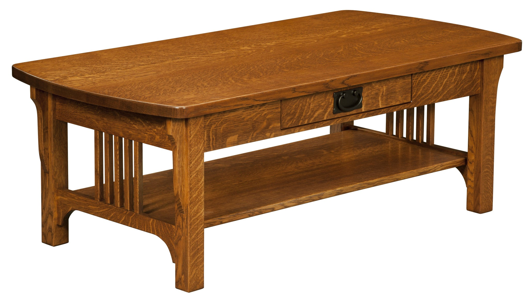 Craftsman Mission Coffee Table Open – Plain and Simple Furniture