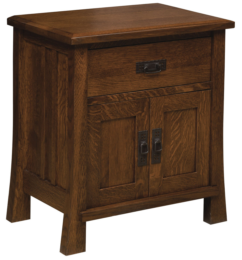 Grant 1 Drawer, 2 Door Nightstand