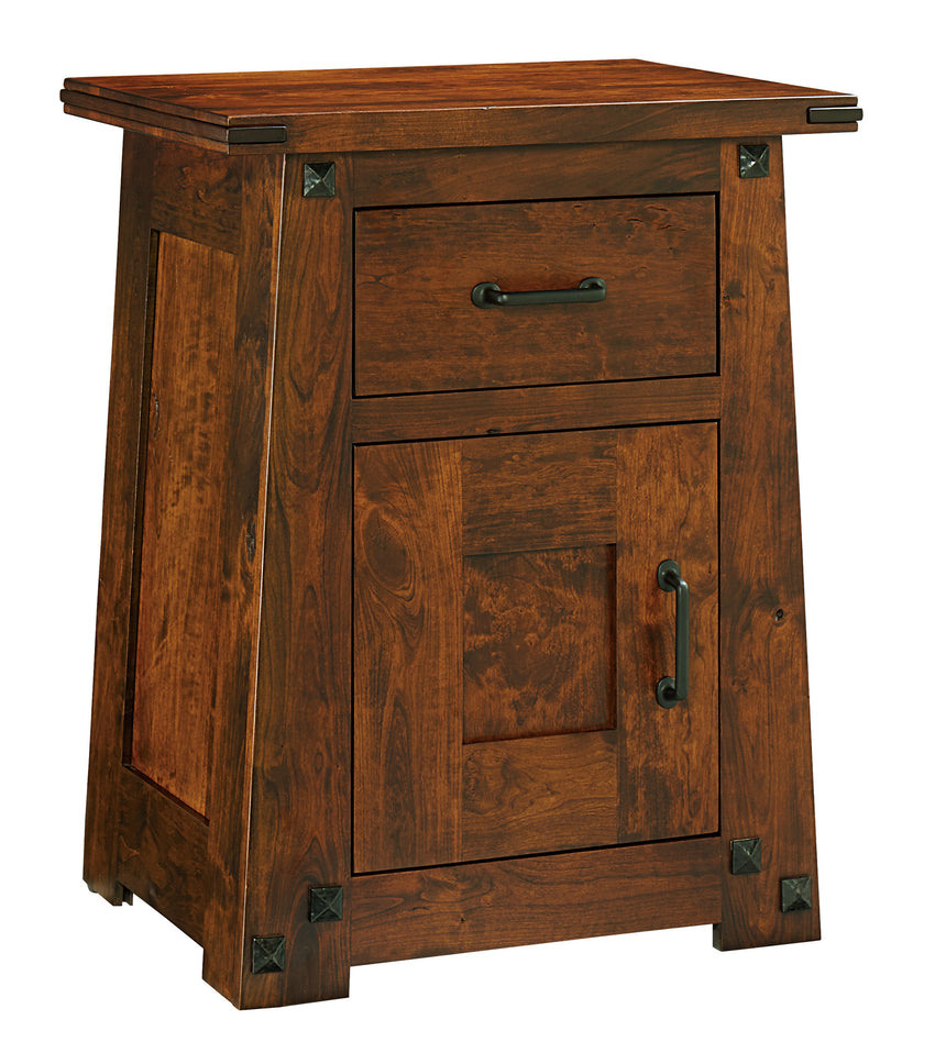 Encada Nightstand, 1 Drawer, 1 Door