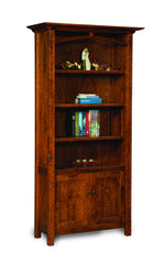 Artesa 4 shelf, 2 door bookcase