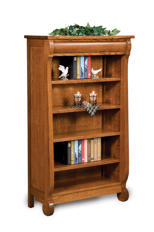Old Classic Sleigh 4 shelf bookcase