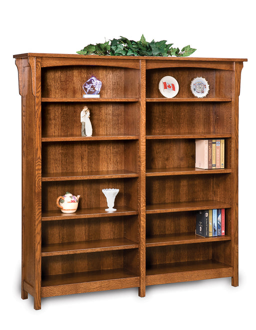 Bridger Mission 10 shelf double bookcase