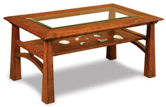 Artesa Glass Top Coffee Table w/Shelf