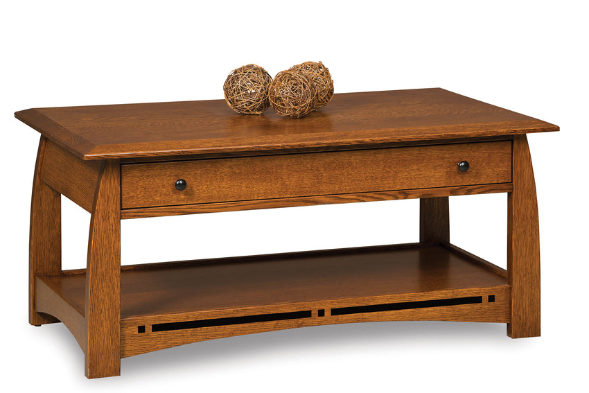 Boulder Creek Open Coffee Table w/Drawer