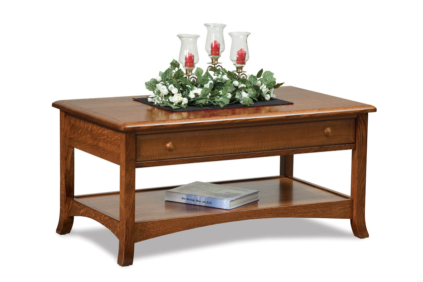 Carlisle Open Coffee Table w/Drawer