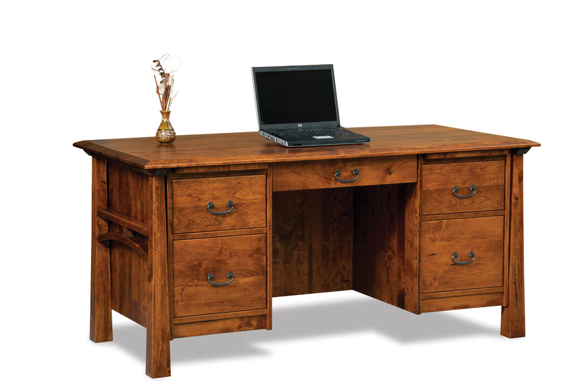 Artesa 5 drawer desk w/unfinished backside