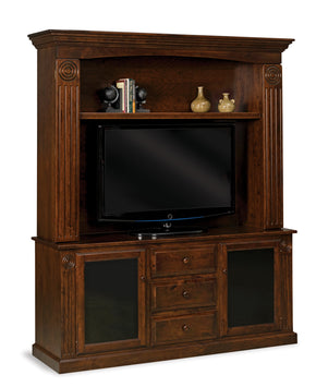 Victorian 2 door, 3 drawer, 2 pc. Home Theater Entertainment Center