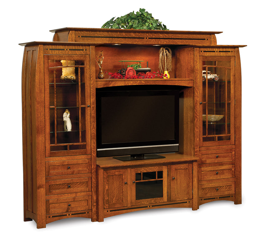 Boulder Creek Wall Unit w/Adj. Bridge for wide screen TV's 6pc.
