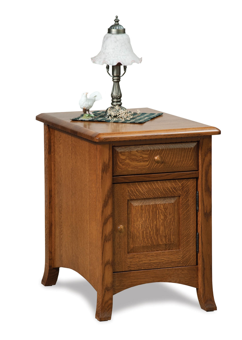 Carlisle Enclosed End Table w/Drawer & Door