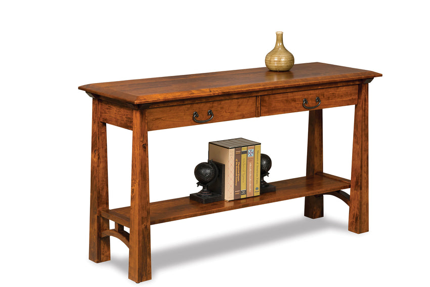 Artesa Open Sofa Table with Drawer and Shelf