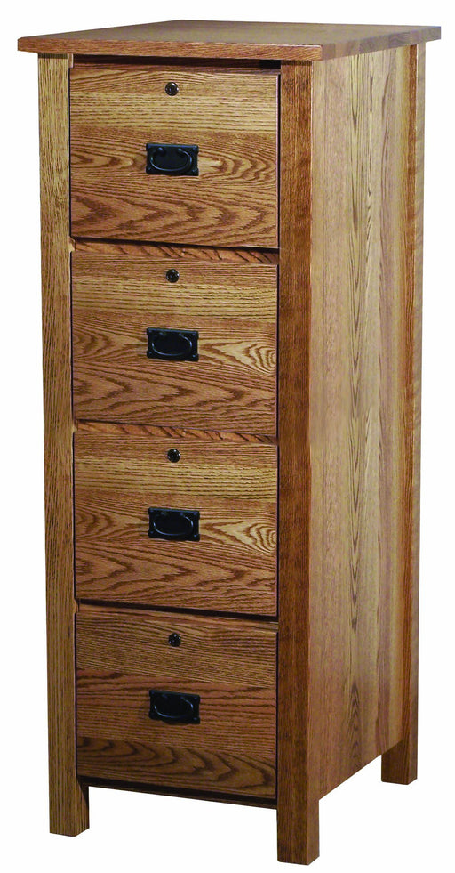 Classic Mission 4 Drawer File Cabinet