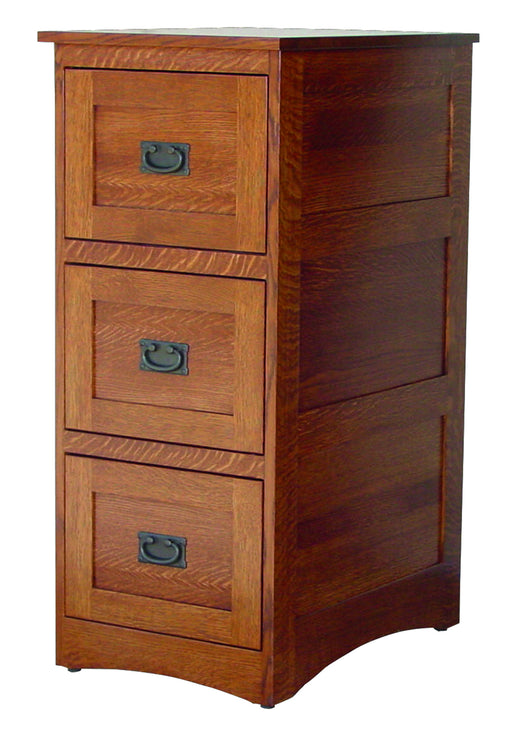 3 Drawer Deluxe File Cabinet Mission Style