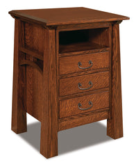 Artesa 3 Drawer Nightstand with Opening