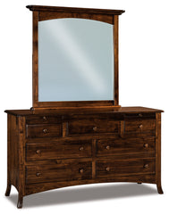 Carlisle 7 Drawer Dresser w/Arch Drawer, 2 Jewelry Drawers