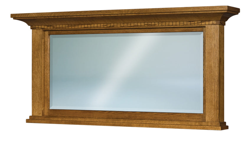 Empire Beveled Square Post Crown Mirror